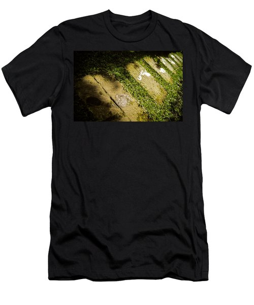 Light Footsteps In The Garden Men's T-Shirt (Athletic Fit)