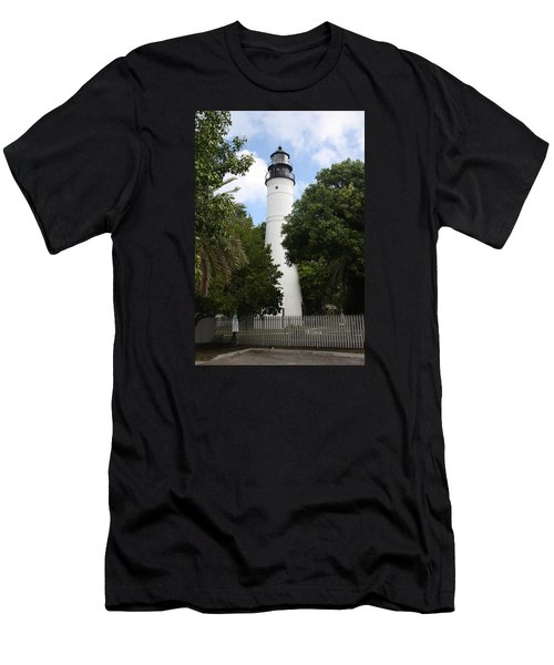 Men's T-Shirt (Slim Fit) featuring the photograph Lighthouse - Key West by Christiane Schulze Art And Photography