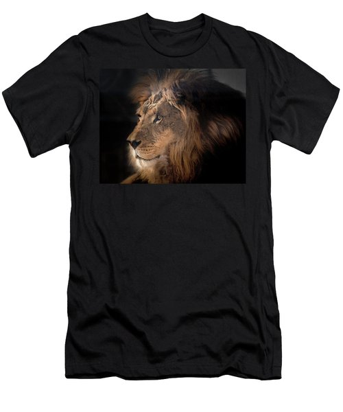 Lion King Of The Jungle Men's T-Shirt (Athletic Fit)