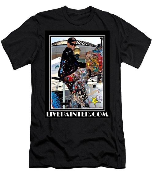 Live Painter Photo Men's T-Shirt (Athletic Fit)