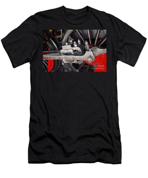 Locomotive Wheel Men's T-Shirt (Slim Fit) by Carlos Caetano