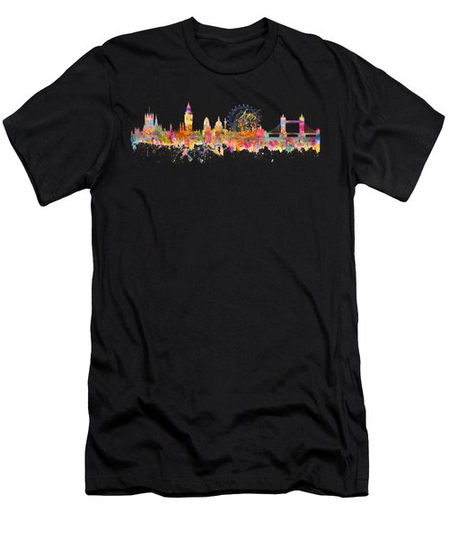 London Skyline Watercolor Men's T-Shirt (Athletic Fit)