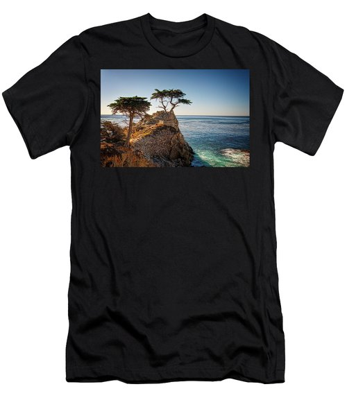 Lone Cypress Tree Men's T-Shirt (Slim Fit) by James Hammond