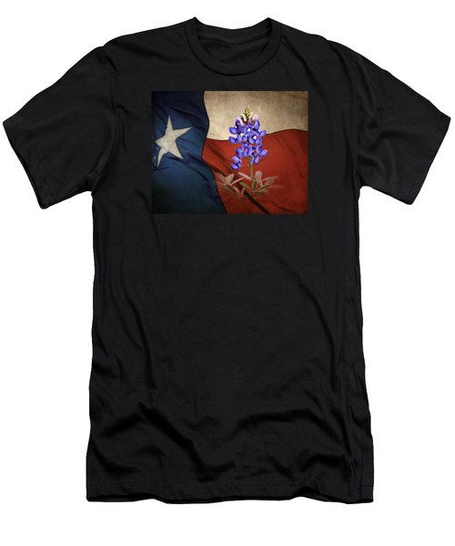 Lone Star Bluebonnet Men's T-Shirt (Slim Fit) by David and Carol Kelly