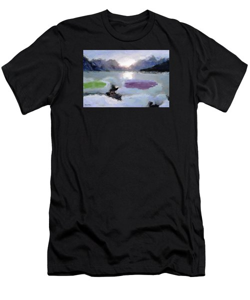 Looking Out Into The Bay Men's T-Shirt (Athletic Fit)
