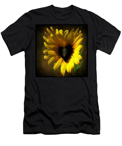 Love Sunflower Men's T-Shirt (Athletic Fit)