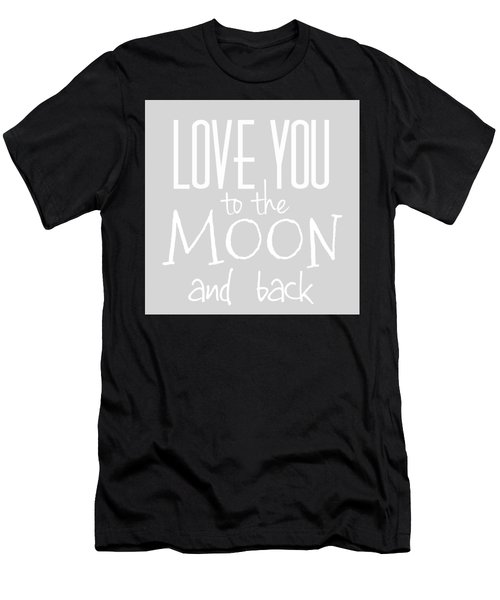 Men's T-Shirt (Athletic Fit) featuring the digital art Love You To The Moon And Back by Marianna Mills