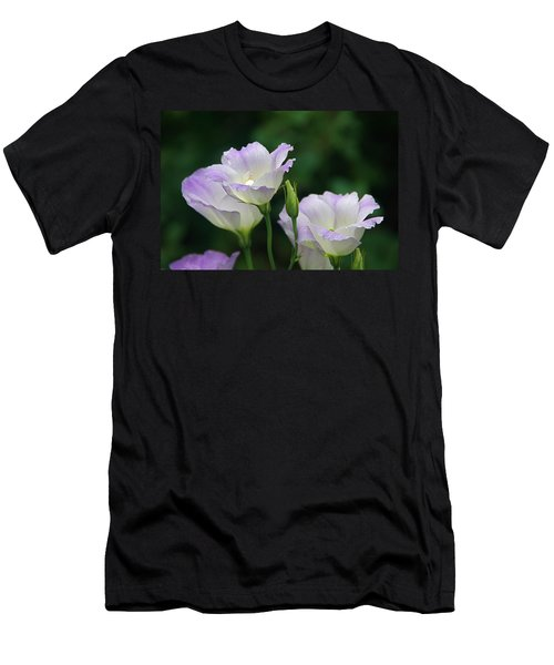 Men's T-Shirt (Slim Fit) featuring the photograph Lovely Lisianthus by Byron Varvarigos