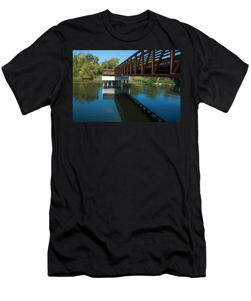 Lower Yahara River Trail 3- Madison - Wisconsin Men's T-Shirt (Athletic Fit)