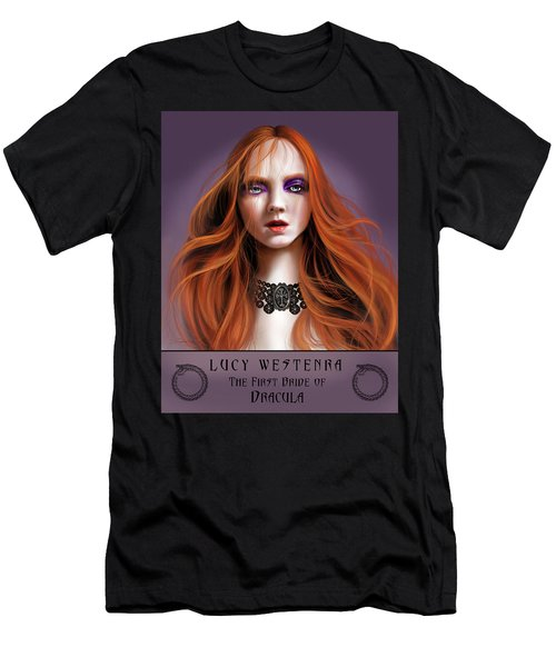 Men's T-Shirt (Slim Fit) featuring the painting Lucy Westenra by James Christopher Hill
