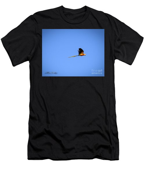 Macaw In Flight Men's T-Shirt (Athletic Fit)