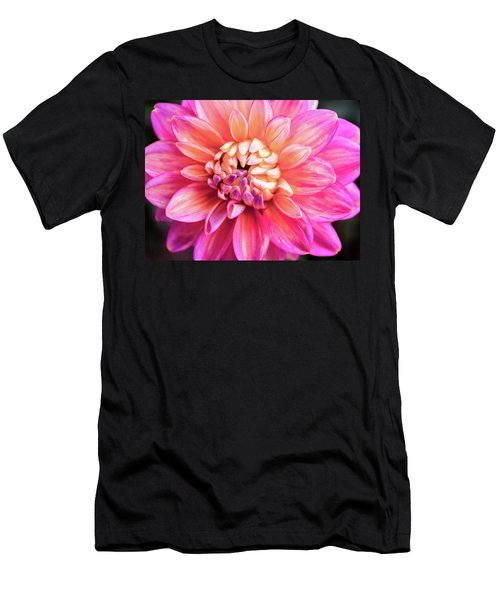 Magenta Dahlia Men's T-Shirt (Athletic Fit)