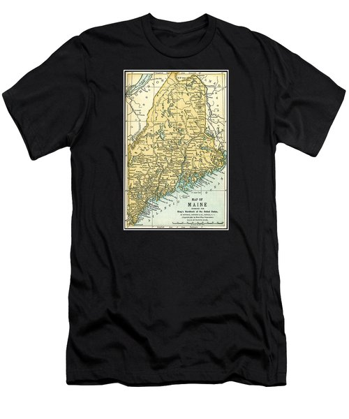 Maine Antique Map 1891 Men's T-Shirt (Athletic Fit)