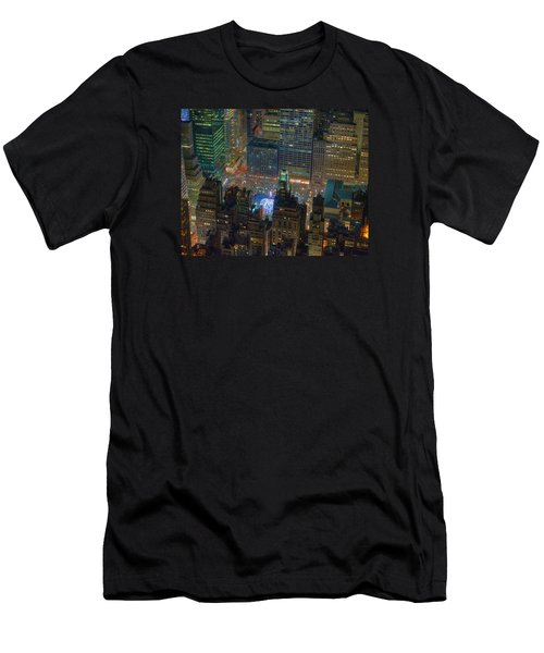 Manhattan Skyline 274 Men's T-Shirt (Athletic Fit)