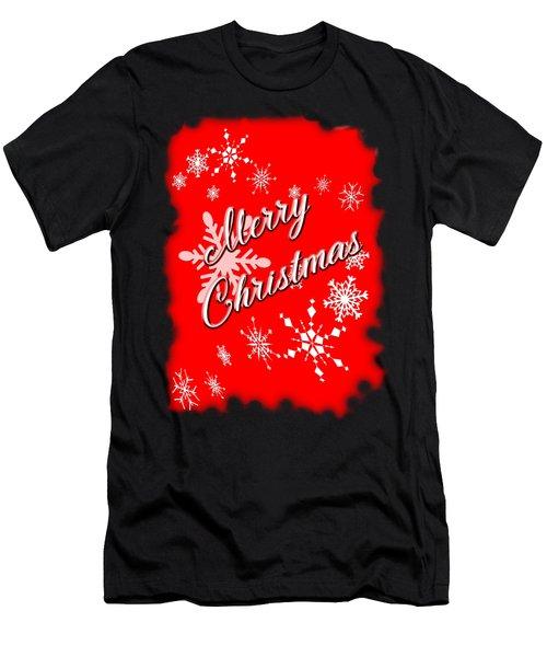 Merry Christmas Men's T-Shirt (Slim Fit) by Judy Hall-Folde