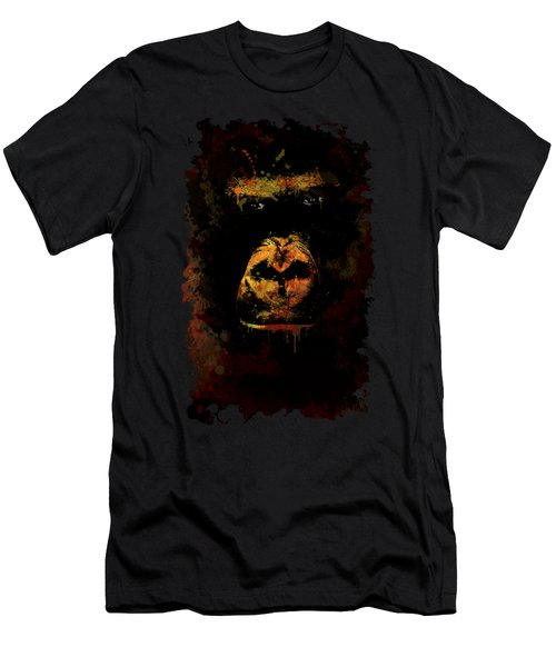 Men's T-Shirt (Athletic Fit) featuring the photograph Mighty Gorilla by Jaroslaw Blaminsky