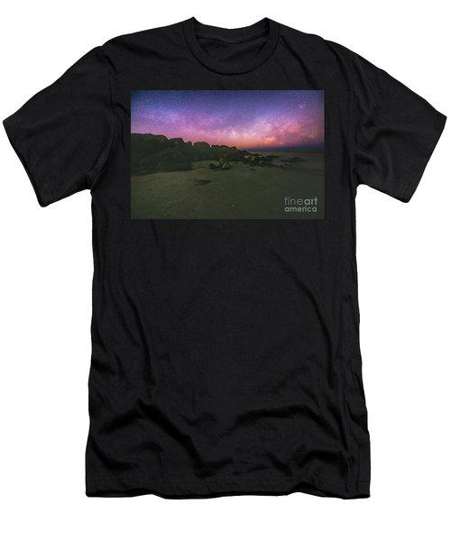 Milky Way Beach Men's T-Shirt (Athletic Fit)