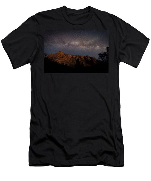 Milky Way Galaxy Over Zion Canyon Men's T-Shirt (Athletic Fit)