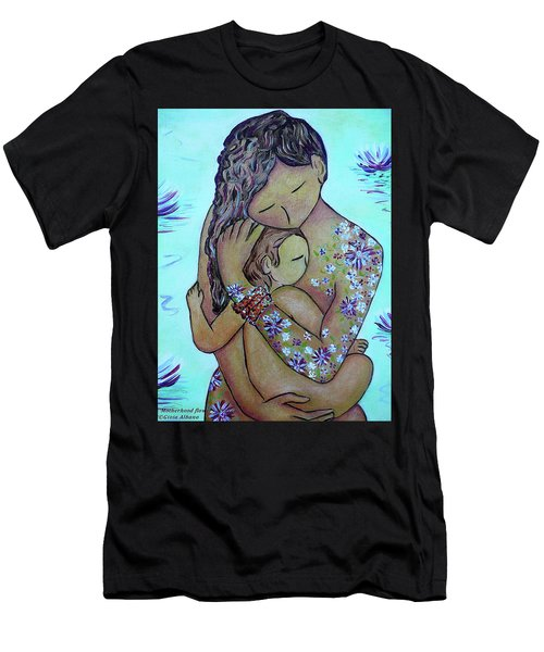 Motherhood Flowers All Over Men's T-Shirt (Athletic Fit)