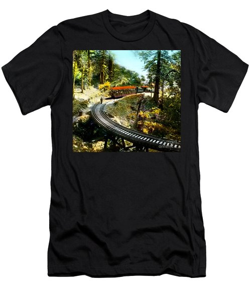 Mount Tamalpais Railway In The 1890s California Men's T-Shirt (Athletic Fit)