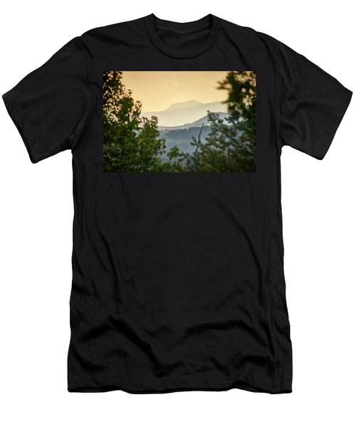 Men's T-Shirt (Athletic Fit) featuring the photograph Mountains In The Distance by Willard Killough III