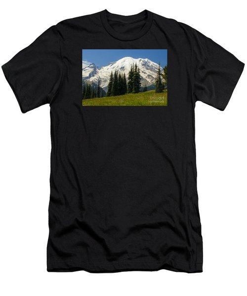 Mt. Rainier Alpine Meadow Men's T-Shirt (Athletic Fit)