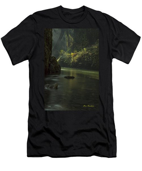 Mystical Canyon Signed Men's T-Shirt (Athletic Fit)