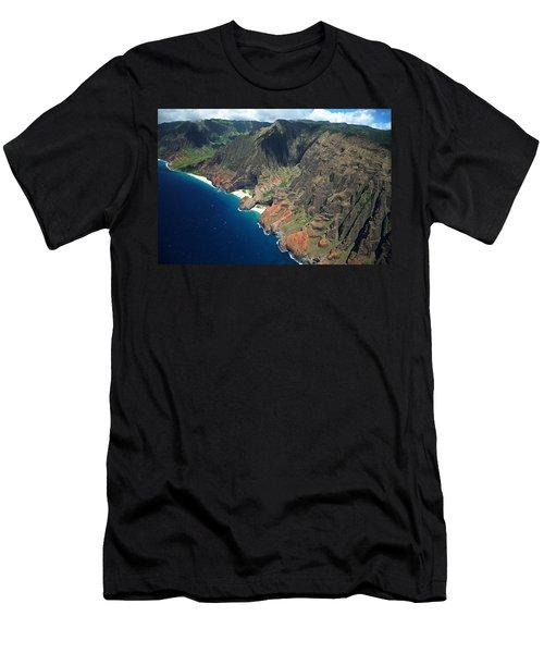 Na Pali Coast Aerial Men's T-Shirt (Athletic Fit)
