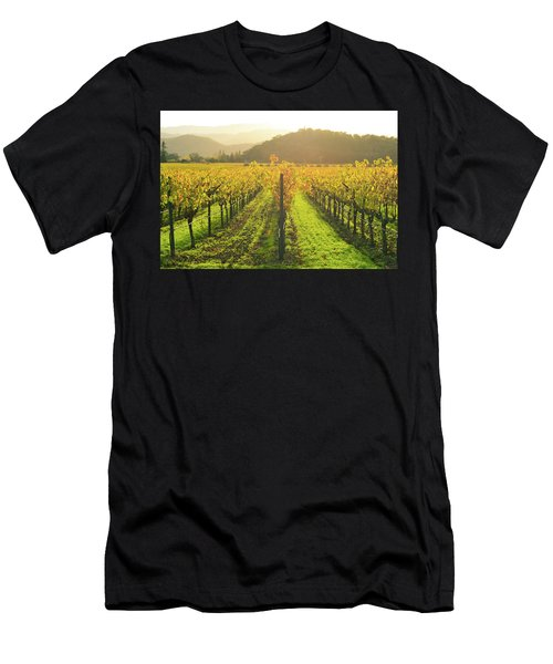 Napa Valley California Vineyard In The Fall Men's T-Shirt (Athletic Fit)