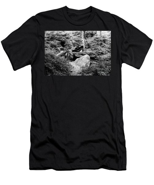 Native American Caves  Men's T-Shirt (Athletic Fit)
