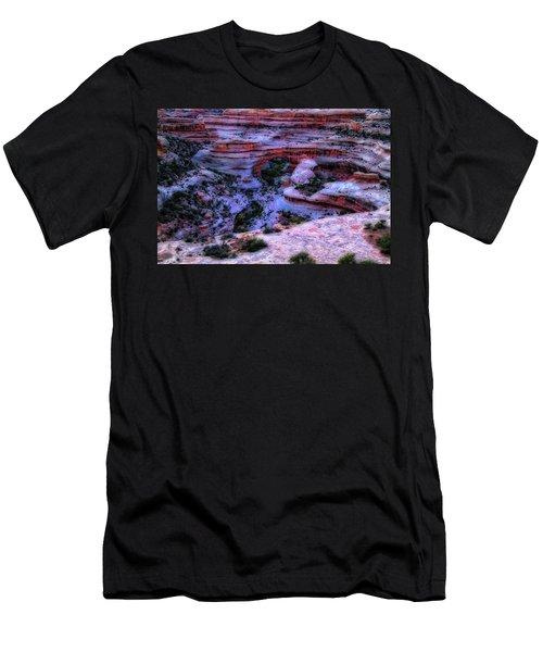 Natural Bridges National Monument Men's T-Shirt (Slim Fit) by Utah Images