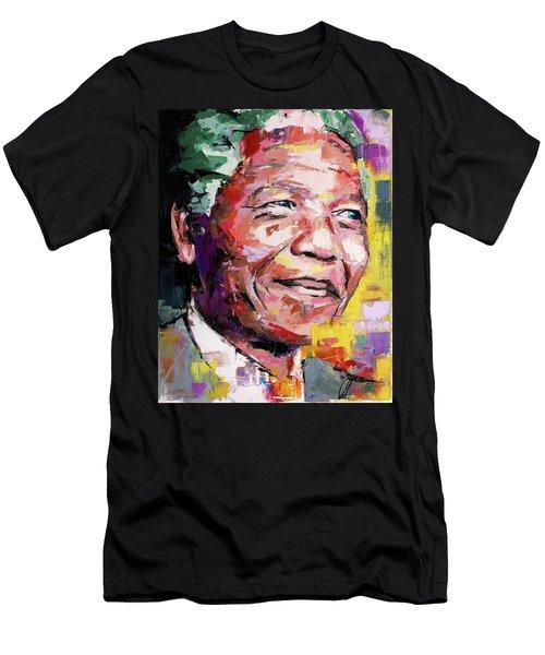 Nelson Mandela Men's T-Shirt (Slim Fit) by Richard Day