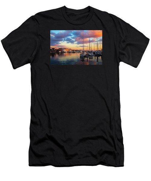 Newports Dusk Men's T-Shirt (Athletic Fit)