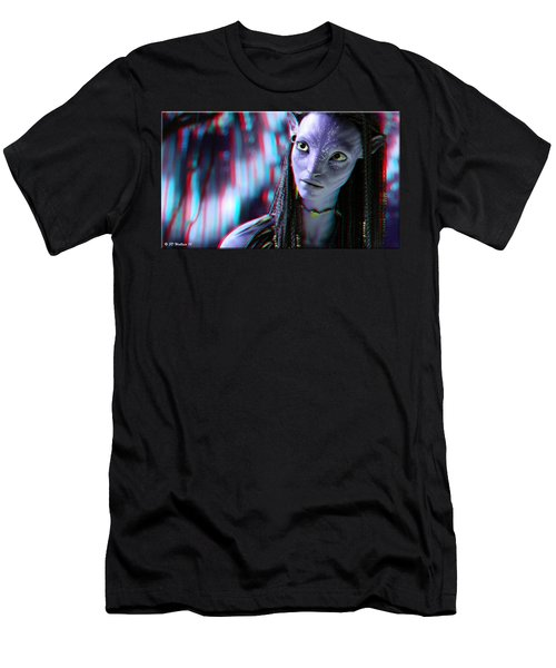 Neytiri - Use Red And Cyan 3d Glasses Men's T-Shirt (Athletic Fit)
