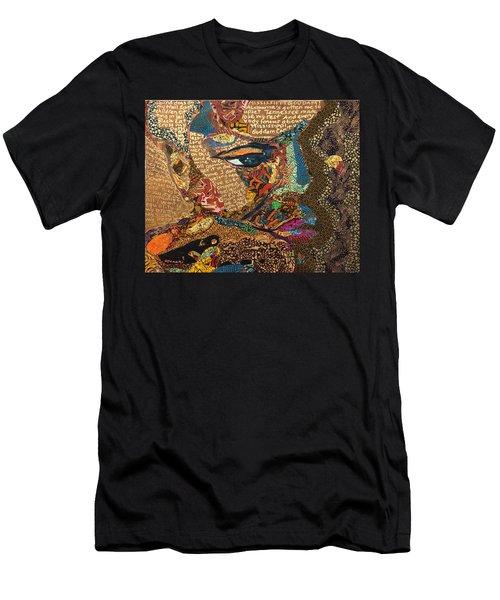Nina Simone Fragmented- Mississippi Goddamn Men's T-Shirt (Athletic Fit)
