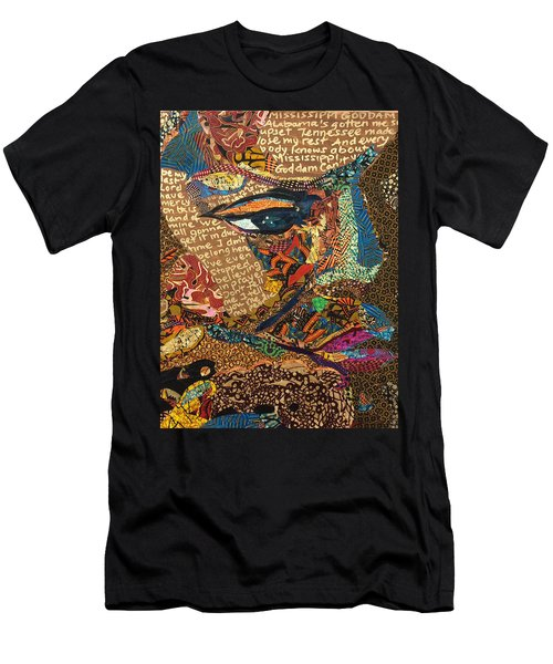 Nina Simone Fragmented- Mississippi Goddamn Men's T-Shirt (Athletic Fit)