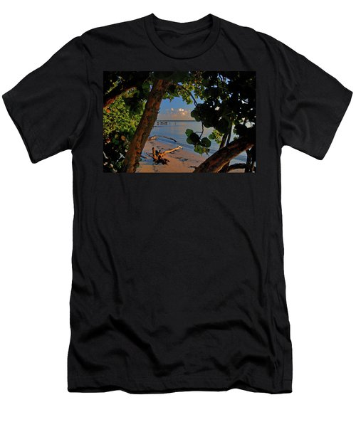 Men's T-Shirt (Slim Fit) featuring the photograph 1- North Palm Beach by Joseph Keane