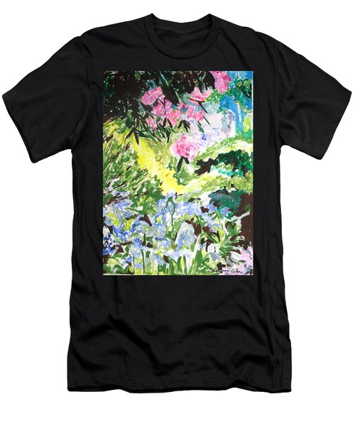 Men's T-Shirt (Athletic Fit) featuring the painting Northern Glen by Esther Newman-Cohen