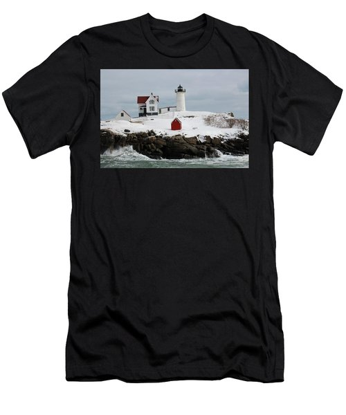 Nubble Point Maine Men's T-Shirt (Athletic Fit)