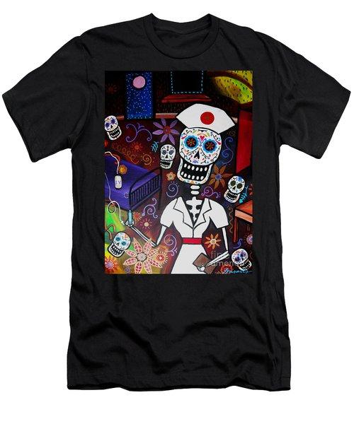 Nurse Dia De Los Muertos  Men's T-Shirt (Athletic Fit)