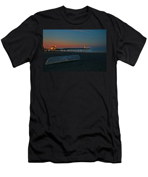 Ocean City  N J Sunrise Men's T-Shirt (Slim Fit) by Allen Beatty