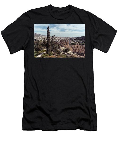 Men's T-Shirt (Athletic Fit) featuring the photograph Odeon Of Herodes Atticus by Michael Maximillian Hermansen