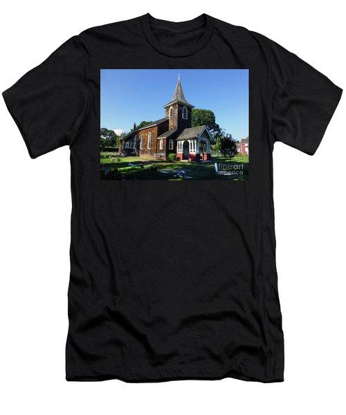 Old Grace Church Massapequa  Men's T-Shirt (Athletic Fit)