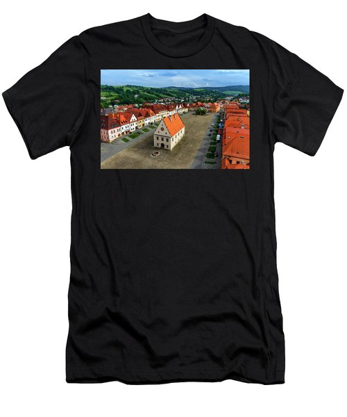 Old Town Square In Bardejov, Slovakia Men's T-Shirt (Slim Fit) by Elenarts - Elena Duvernay photo