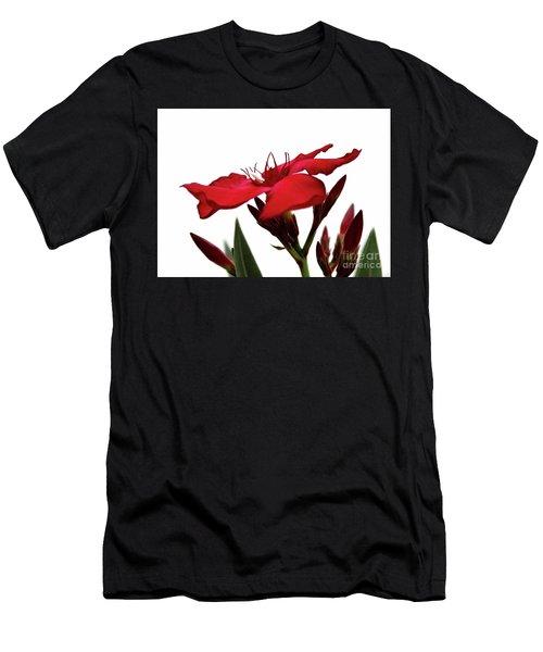 Oleander Blood-red Velvet 3 Men's T-Shirt (Athletic Fit)