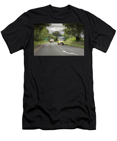 Men's T-Shirt (Athletic Fit) featuring the photograph On The Way To Help by RKAB Works
