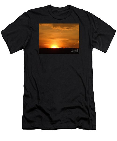 Men's T-Shirt (Slim Fit) featuring the photograph Orange Sunset  II by Christina Verdgeline