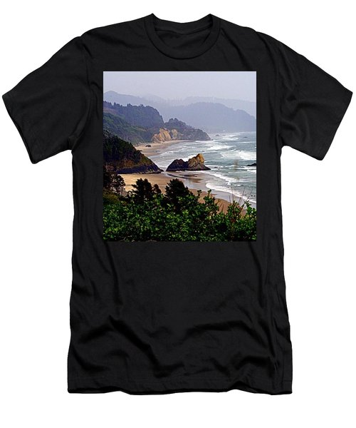 Oregon Coastline Men's T-Shirt (Athletic Fit)
