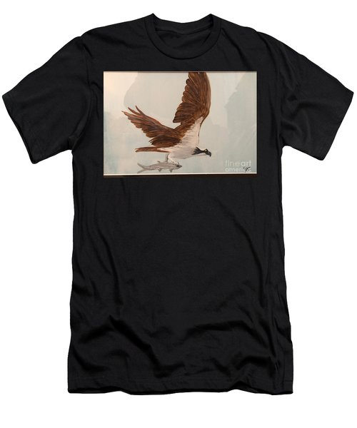 Men's T-Shirt (Athletic Fit) featuring the painting Osprey by Donald Paczynski