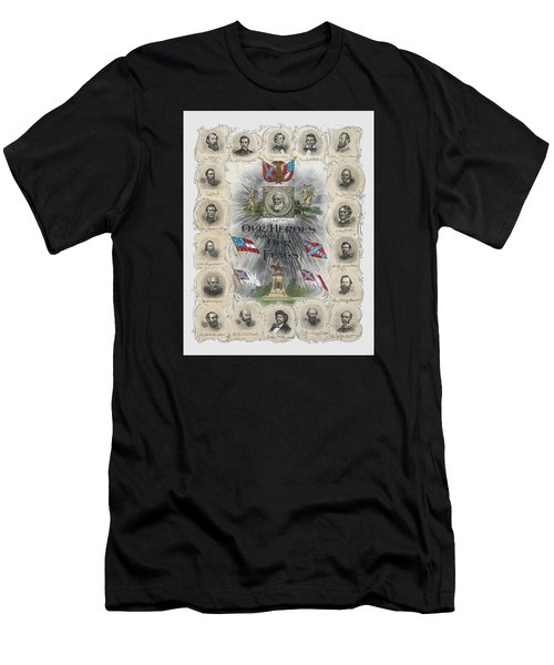 Our Heroes And Our Flags Men's T-Shirt (Athletic Fit)